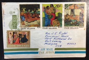 Cook Islands #173,224,225,226 Used On Cover