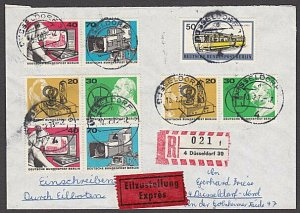 GERMANY 1973 Registered cover - Nice franking - ............................B464