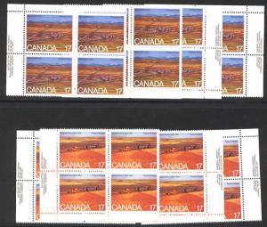Canada -1980 Saskatchewan & Alberta Imprint Blocks mint