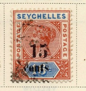 Seychelles 1893 Early Issue Fine Used 15c. Surcharged 326861