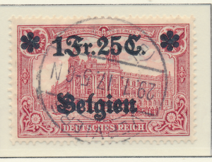 Belgium, German Occupation Stamp Scott #N8, Used - Free U.S. Shipping, Free W...