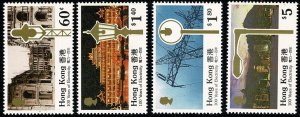 HONG KONG QE II 1990 ELECTRIC SET MINT(NH) SG647-50 Wmk.NONE P.14.5 SUPERB