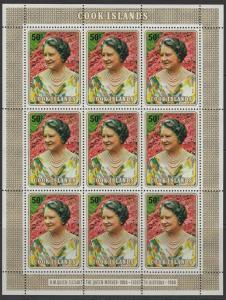 COOK ISLANDS SG701 1980 QUEEN MOTHER SHEETLET MNH