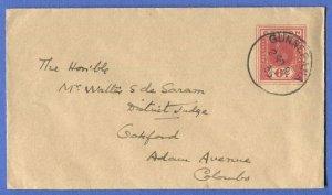 T983 - CEYLON 1935 KGV 6c Stationery Envelope, GUNNEPANA to Colombo, H&G B53