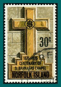 Norfolk Island 1975 Barnabas Chapel, 30c used #190,SG168