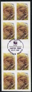 Booklet - Belarus 1995 WWF (Beavers) booklet containing 3...