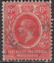 Kenya Uganda & Tanzania; 1921: Sc. # 3: O/Used Single Stamp