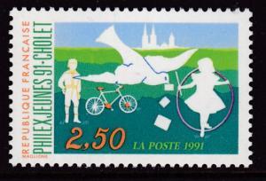 France 1991 Scott 2243  2.50fr.Youth Stamp Exhibit Cholet  VF/NH