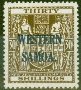 Western Samoa 1948 30s Brown SG211 Fine MNH