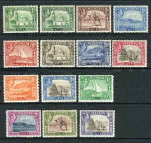 ADEN-1939-48  A lightly mounted mint set to 10r including both ½a shades