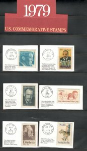 1770-1802 US Postage Commemorative Stamps (1979) In Mounts & Post Marked  MNH
