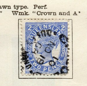 Queensland 1906 Early Issue Fine Used 2d. NW-113714