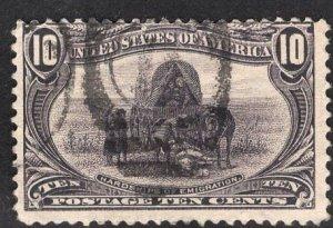 US Stamp #290 10c Trans-Mississippi USED SCV $35.00