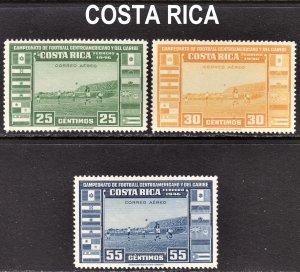 Costa Rica Scott C121-23 complete set F to VF mint OG NH.