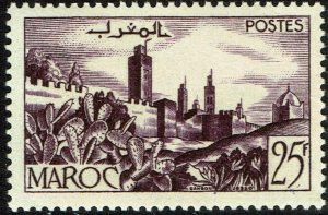 French Morocco #300  MNH - Walled City (1954)