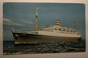 Vintage 1957 Ryndam Holland America Line Ireland Real Picture Postcard Cover