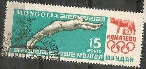 MONGOLIA, 1960, CTO 15m, Olympic Games Scott 205