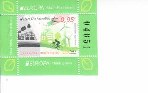 2016 Montenegro Think Green Europa SS (Scott 398a) MNH