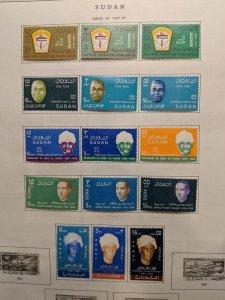 Sudan 179//217 12 complete sets VFMH, CV $26.85