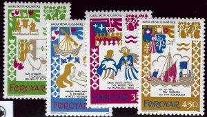 Faroe Islands SC#86-89 Mint VF SCV$3.50...Faroe Islands are Magical!