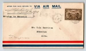 Canada 1929 FFC Ft Wrigley to Edmonton (Can-517e) / Pilot Signed - Z12973