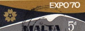 Malta 1970 Expo  used