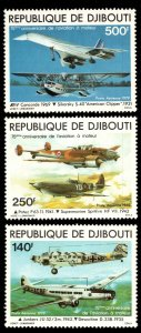 Djibouti Scott C124-C126 Mint never hinged.