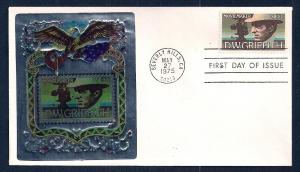 UNITED STATES FDC 10¢ DW Griffith 1975 Ross Foil