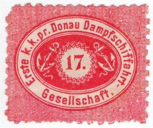 (I.B) Austria Cinderella : Danube Steamship Company 17kr