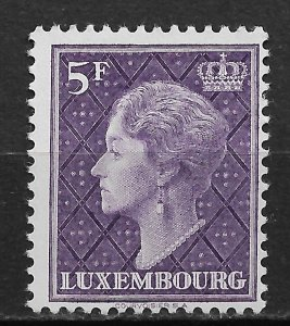 1958 Luxembourg 340 Grand Duchess Charlotte 5F MH