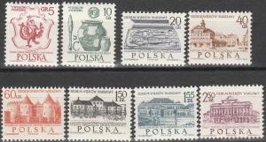 Poland #1334-41 MNH F-VF (SU3293)