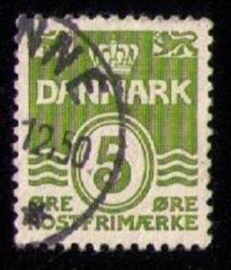 DENMARK Sc 223a Used Gray Green VF/XF Cat.$40.00