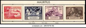 MAURITIUS - 1949 75th ANNIVERSARY 0F UPU SCOTT#231-4 - 4V MINT HINGED