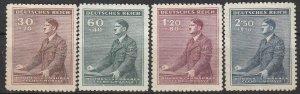 Stamp Germany Bohemia Czechoslovakia Mi 085-8 Sc B9-12 1942 WWII Hitler MNG