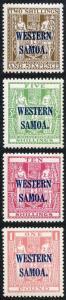 Samoa SG189/92 Postal Fiscals Opt WESTERN SAMOA U/M