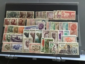 Ivory Coast mounted mint and used stamps  R24590