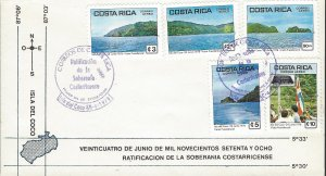 Costa Rica Coco Island,Ratification of Sovereignty, Sc C737-C741 FDC 1979