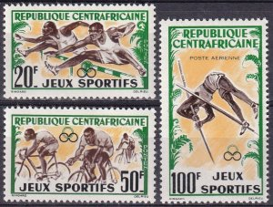 Central African Republic #19-20, C6 MNH  CV $4.15  (Z4438)