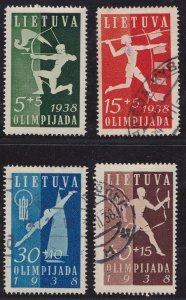 1938 Lithuania/Lithuania/Lietuva - Pa N°362/365 Series Di 4 Values Used N° 3
