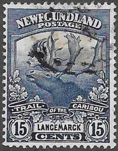 Newfoundland Scott Number 124 FVF Used