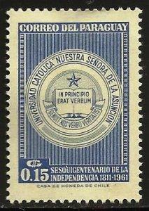 Paraguay 1961 Scott# 598 MH