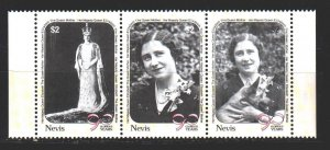 Nevis. 1990. 548-50. Queen mother. MNH.