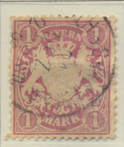 Bavaria (German State) Stamp Scott #54, Used Hinged - Free U.S. Shipping, Fre...