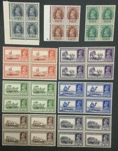 MOMEN: INDIA CHAMBA SG #82/92 BLOCKS MINT OG NH LOT #193643-2367