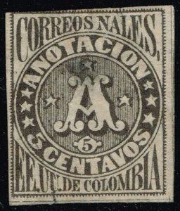 Colombia #F3 Registration Stamp; Used (1Stars)