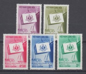South Vietnam 1957 Full  Set Sc#68-72  MNH Luxe (White Gum)