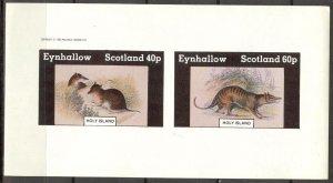 {E131} Eynhallow Scotland Fauna Rodent Mouses Sh.2 Imperf. MNH Cinderella !!