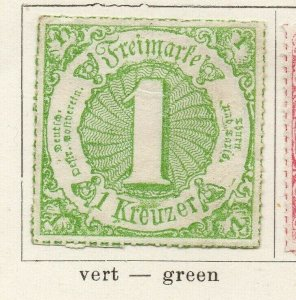 Tour & Taxis 1865-66 Early Issue Fine Mint Hinged 1kr. NW-04581
