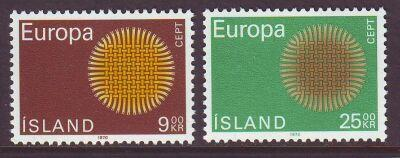 Iceland Sc 420-1 1970  Europa  stamps mint NH