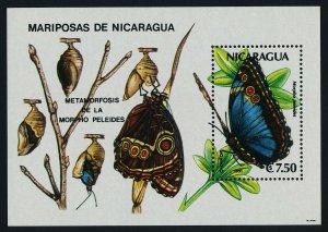 Nicaragua 1860 MNH Buttterfly
